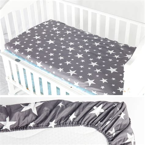 Ainaan 100 Cotton Crib Fitted Sheet Soft Baby Bed Fitted Sheet For Crib Mattress