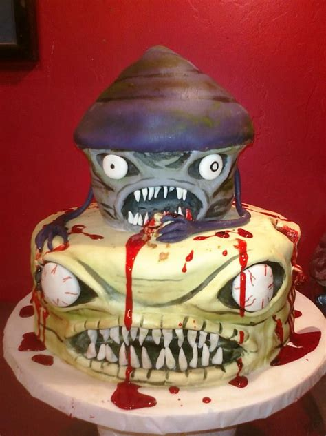 """""""Zombie cupcake"""" Cake! for sabin's zombie dance birthday party this year   For the Boys"""