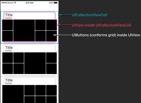 grid like ios how can i make a custom grid inside a