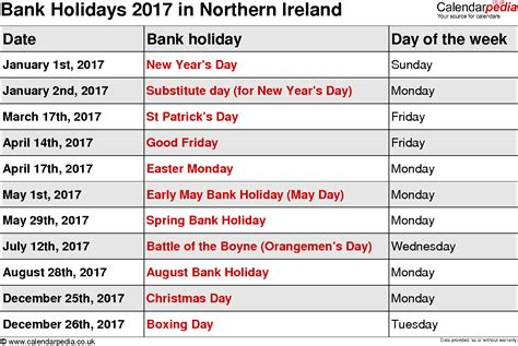 bank march april 2017 calendar with holidays uk 2017 calendar