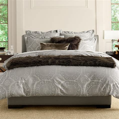 suzani bedding suzani jacquard bedding gray williams sonoma
