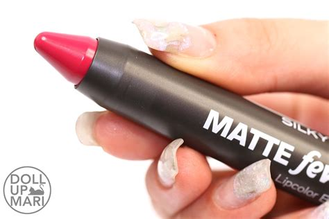 Silkygirl Matte Fever 06 Charm silkygirl matte fever lipcolor balm review and swatches