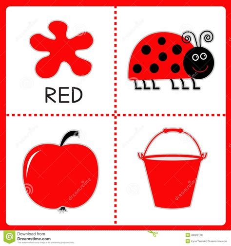 Red Is The Color Of The Day Children S Song Red Colors | learning red color ladybug apple and bucket educational