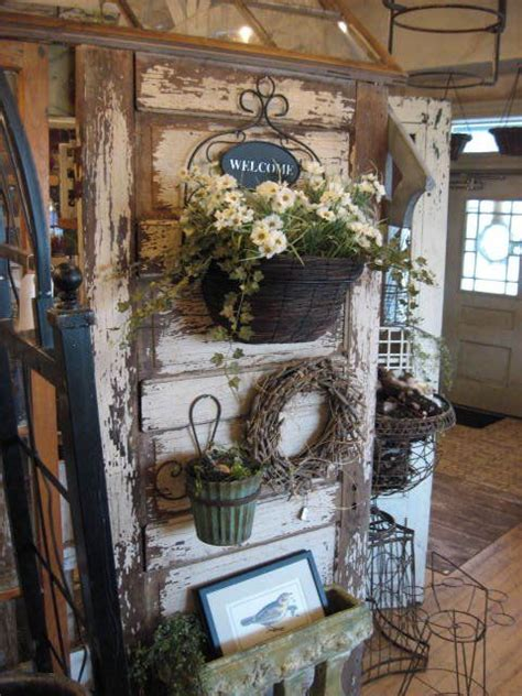 vintage home decor stores booth crush old doors as displays and room dividers