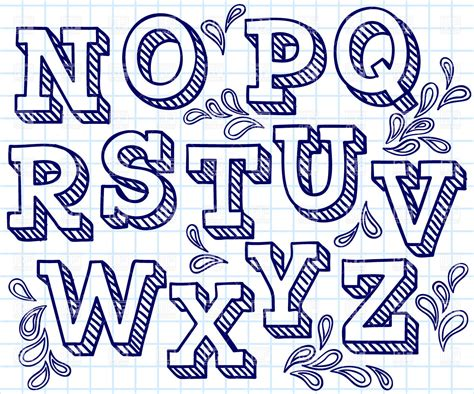 Letter In Fonts 7 best images of cool letter fonts to draw cool