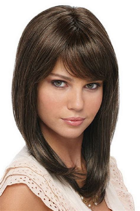 medium hair haircuts for medium length hair with bangs