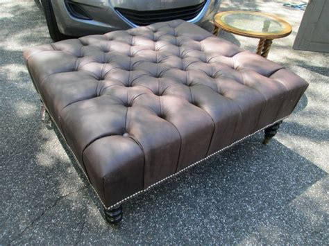 oversized ottomans for sale oversized leather tufted ottoman for sale at 1stdibs