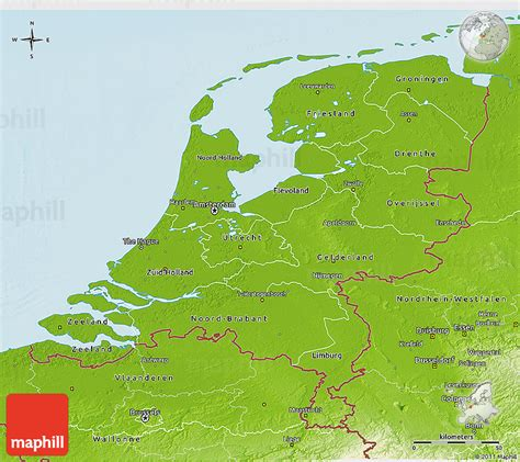 netherlands geography map physical 3d map of netherlands