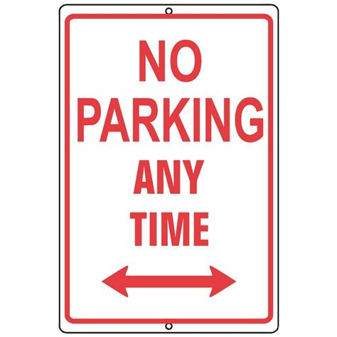 no parking signs home depot the hillman 10 in x 14 in
