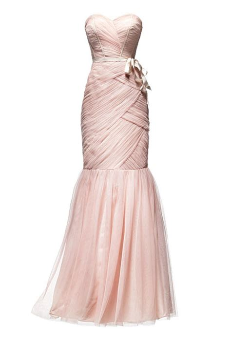 Would You Wear A Wedding Dress by The Pale Pink Bridesmaid Dresses You Could Totally Wear As