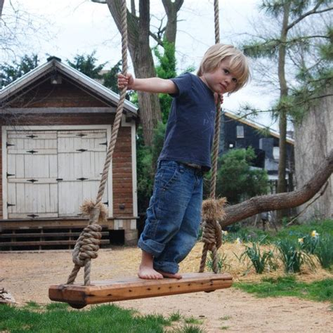large tree swing tree swing olde fashioned made of reclaimed wood by pegandawl