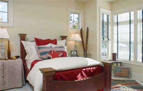 ingenious bedroom in black and red with a wall mounted content 4th of july interiors inspired by red white