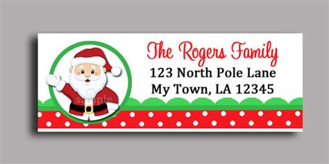 printable address labels from santa that party chick s vendor listing catch my party