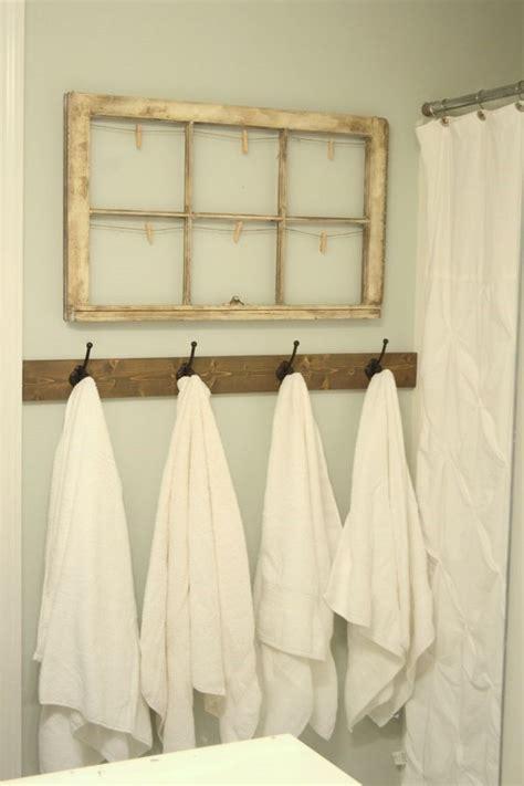 Bathroom Towel Hooks Ideas by Rustic Towel Hooks In Guest Bathroom Decor