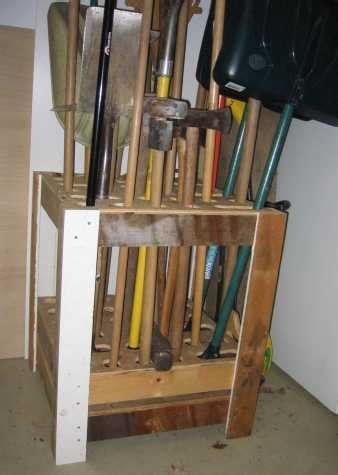 plans for a garden tool rack