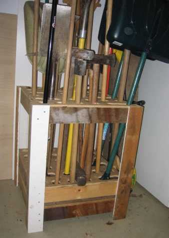 plans   garden tool rack