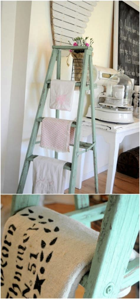 18 amazing diy spring home decor projects style motivation diy home decor 17 amazing wooden ladder repurposing ideas