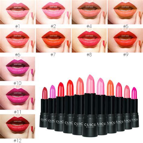 Lipstick 6 Matte 24 Hours 1pcs lipstick 24 hours lasting waterproof matte lipstick soft matte 12 colors