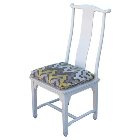 set   white pagoda asian style dining chairs