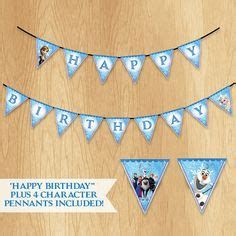 free printable olaf banner olaf printable happy birthday banner plus cake toppers