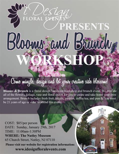 event design workshop blooms and brunch a flower design workshop and brunch