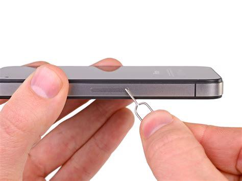 iphone 4 sim card iphone 4s sim card replacement ifixit repair guide