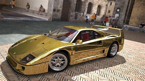 car ferrari gold car bike fanatics gold ferrari f40 gt5