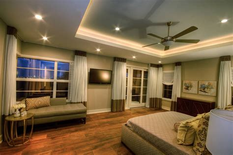 ceiling lights for master bedroom indirect lighting around the tray ceiling