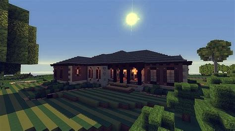 Modern Open Floor Plan by Contemporary Craftsman Home Minecraft House Design