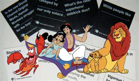 Cards Against Disney Template by A Disney Themed Version Of Cards Against Humanity Is