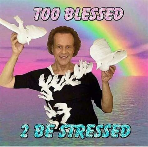 Blessed Meme - too blessed to be stressed acervo de cantadas chiques e