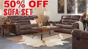 50 percent discount beckley brown 5pc living room sofa reviews home best furniture