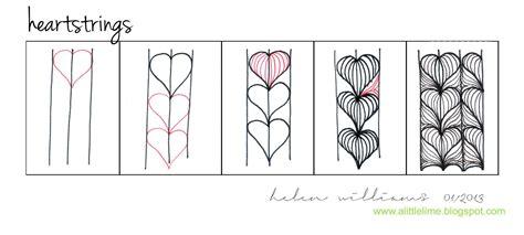 easy zentangle pattern ideas step by step pattern heartstrings