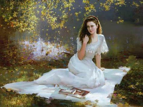 Pura Femme peinture romantique de femmes de an he les mallettes de