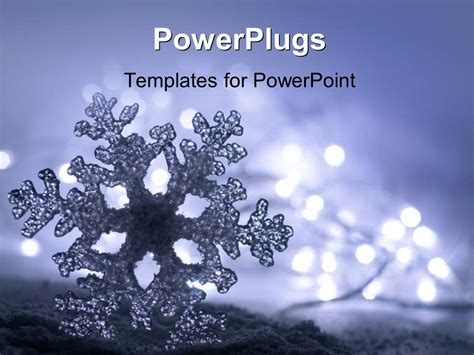 Powerpoint Template Frozen Ice Snowflake With Soft Snowflake Powerpoint Template