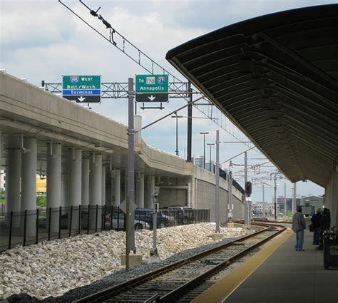 Light Rail To Airport by Bwi Light Rail Station Flickr Photo