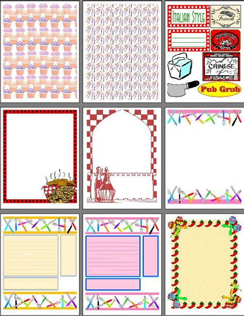 scrapbook page templates free printable scrapbook pages for recipe scrapbooks smash