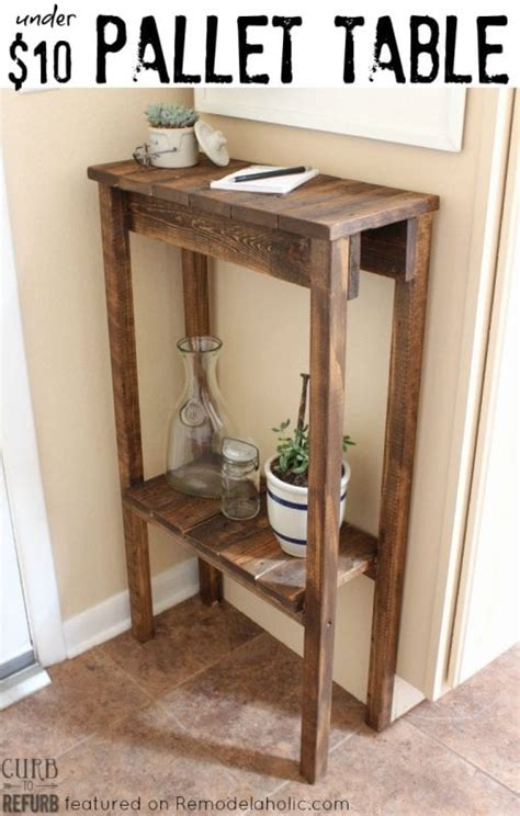 remodelaholic build  pallet table