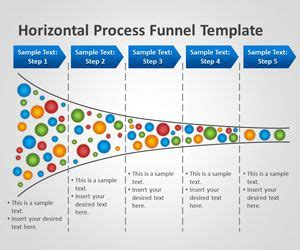 Mba Calculate Percent Of Repeat Business Principle by Free Horizontal Process Funnel Powerpoint Template Free