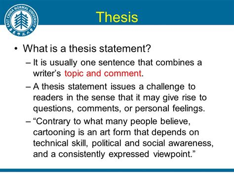 what is the thesis lecture 4 stating thesis ppt