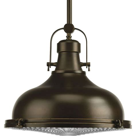 Progress Lighting Fresnel Collection 1 Light Oil Rubbed Bronze Pendant Lights