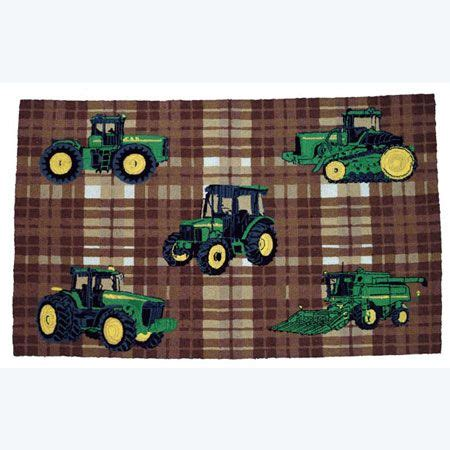 john deere rugs john deere traditional plaid pattern area rug tractor up