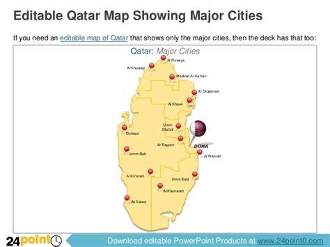 editable qatar map for ppt