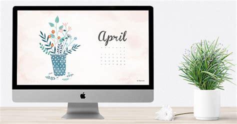 Computer Calendar April 2016 Free Calendar Wallpaper Desktop Background