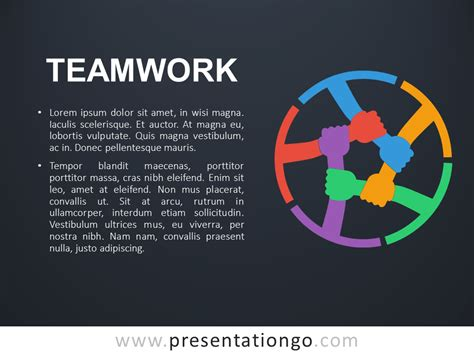 Teamwork Metaphor Powerpoint Template Teamwork Powerpoint Templates