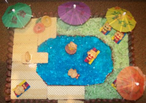 Pool Cake Decorations by Madnsneaky Built