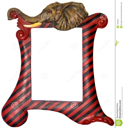 themed picture frames picture frame elephant themed stock image image 14953551
