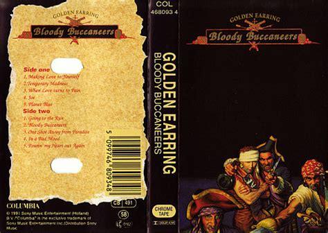 golden earring bloody buccaneers cassette inlay 1991 nl
