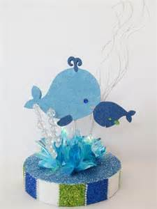 Whale Baby Shower Centerpieces whale baby shower centerpiece designs by ginny