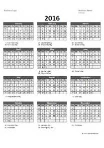 annual calendar template format 2016 excel yearly calendar 05 free printable templates